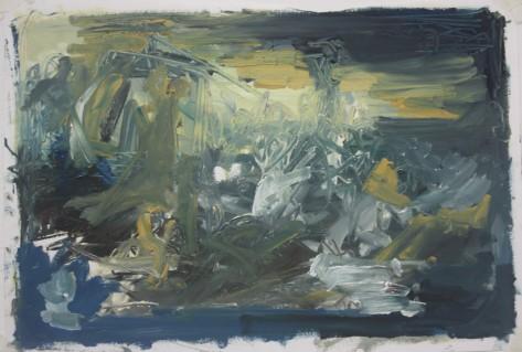 'Medusa 1' Oil paint on paper