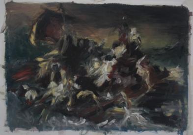 'Medusa 4' Oil paint on paper