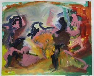 'Picasso Transcription 10' Oil paint on paper