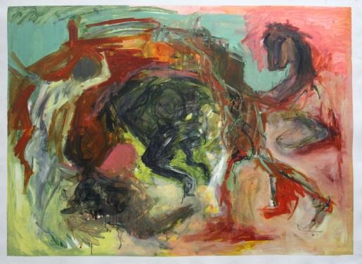 'picasso transcription 11' Oil paint on paper