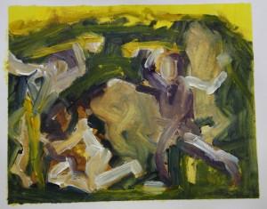 'Picasso Transcription 2' Oil paint on paper