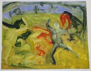 'Picasso Transcription 6' Oil paint on paper