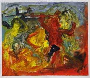 'Picasso Transcription 9' Oil paint on paper