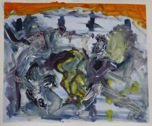 'Picasso Transcription' Oil on paper